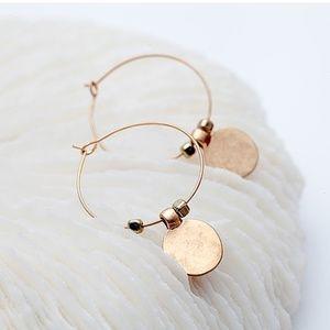 New - Fleur Hoop Earrings